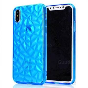 Diamond Pattern Shining Soft TPU Phone Back Cover for iPhone X(5.8 inch) - Blue