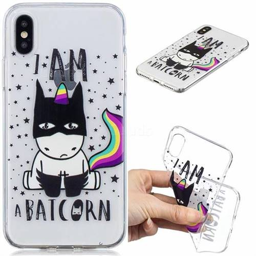 Batman Clear Varnish Soft Phone Back Cover for iPhone XS / iPhone X(5.8 inch)