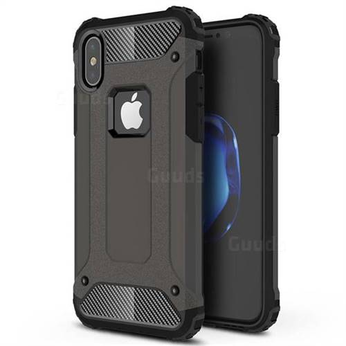 King Kong Armor Premium Shockproof Dual Layer Rugged Hard Cover for iPhone XS / iPhone X(5.8 inch) - Bronze