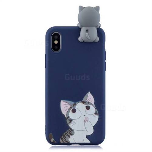 more photos 00809 bc21b Big Face Cat Soft 3D Climbing Doll Soft Case for iPhone XS / iPhone X(5.8  inch)