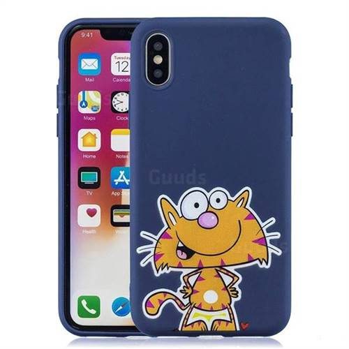 iphone xs silicone case blue