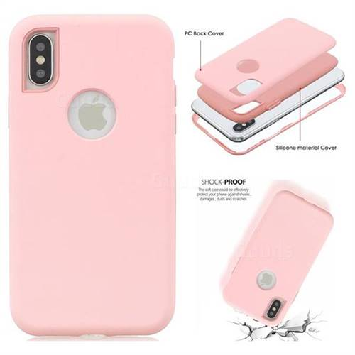 51a63f59c Matte PC + Silicone Shockproof Phone Back Cover Case for iPhone XS / iPhone  X(