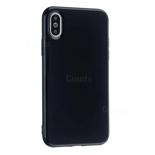 2mm Candy Soft Silicone Phone Case Cover for iPhone XS / iPhone X(5.8 inch) - Black