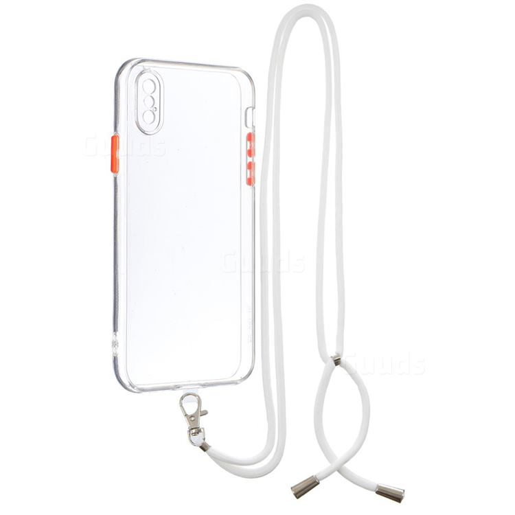 Necklace Cross-body Lanyard Strap Cord Phone Case Cover for iPhone XS / iPhone X(5.8 inch) - Transparent