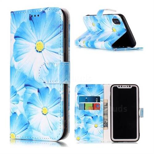 Orchid Flower PU Leather Wallet Case for iPhone XS / X / 10 (5.8 inch)