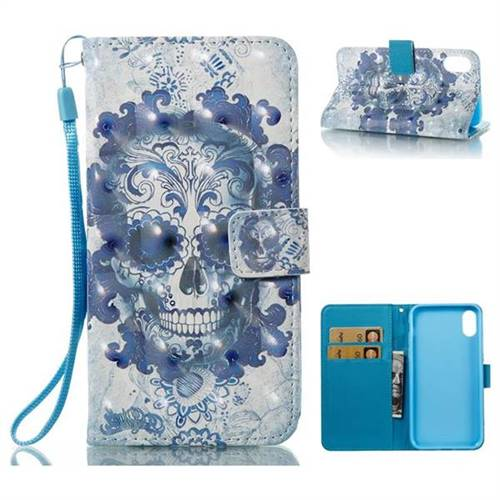 Cloud Kito 3D Painted Leather Wallet Case for iPhone XS / X / 10 (5.8 inch)