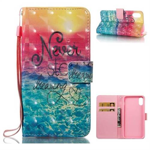Colorful Dream Catcher 3D Painted Leather Wallet Case for iPhone XS / X / 10 (5.8 inch)