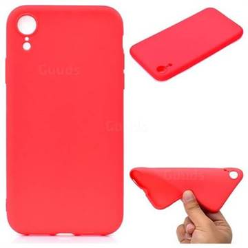 Candy Soft TPU Back Cover for iPhone Xr (6.1 inch) , Red