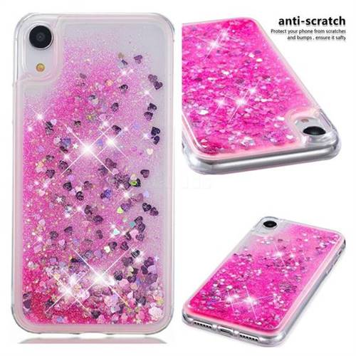 Dynamic Liquid Glitter Quicksand Sequins TPU Phone Case for iPhone Xr (6.1 inch) - Rose