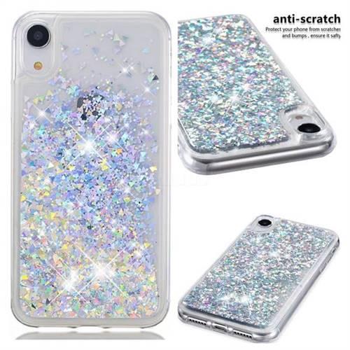 best loved 25d3b b4ac3 Dynamic Liquid Glitter Quicksand Sequins TPU Phone Case for iPhone Xr (6.1  inch) - Silver