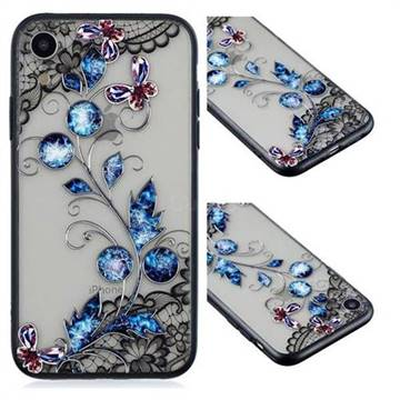 Butterfly Lace Diamond Flower Soft TPU Back Cover for iPhone Xr (6.1 inch)