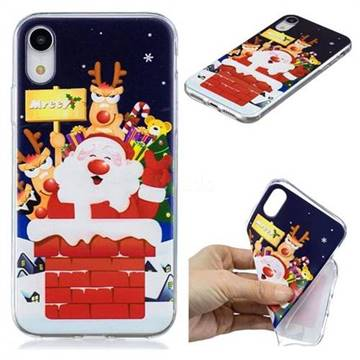 Merry Christmas Xmas Super Clear Soft TPU Back Cover for iPhone Xr (6.1 inch)