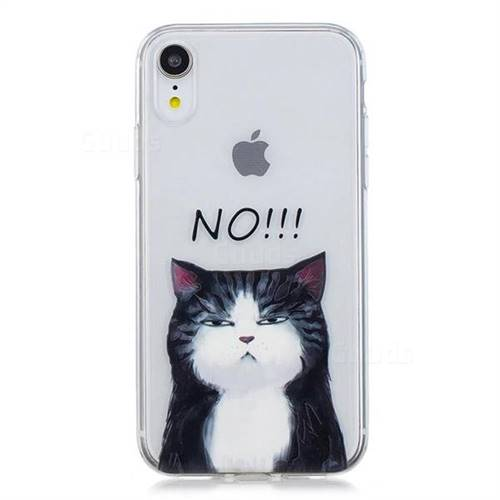 timeless design 87fb5 f6143 No Cat Clear Varnish Soft Phone Back Cover for iPhone Xr (6.1 inch)