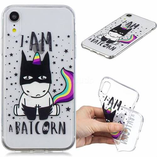 Batman Clear Varnish Soft Phone Back Cover for iPhone Xr (6.1 inch)
