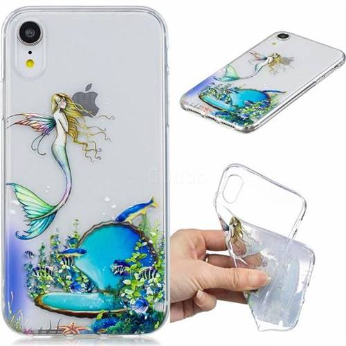 Mermaid Clear Varnish Soft Phone Back Cover for iPhone Xr (6.1 inch)