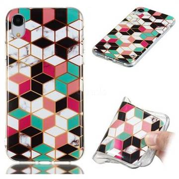 promo code b7772 820e2 Three-dimensional Square Soft TPU Marble Pattern Phone Case for iPhone Xr  (6.1 inch)
