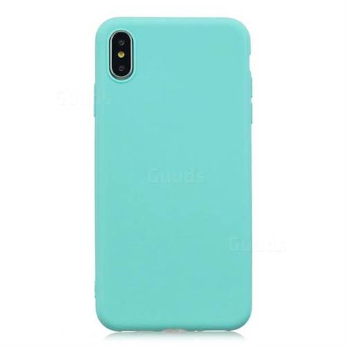 reputable site 1a5c5 ba65a Candy Soft Silicone Protective Phone Case for iPhone Xr (6.1 inch) - Light  Blue