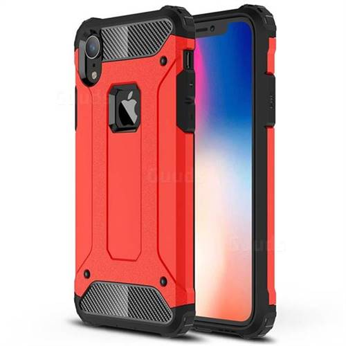 King Kong Armor Premium Shockproof Dual Layer Rugged Hard Cover for iPhone Xr (6.1 inch) - Big Red