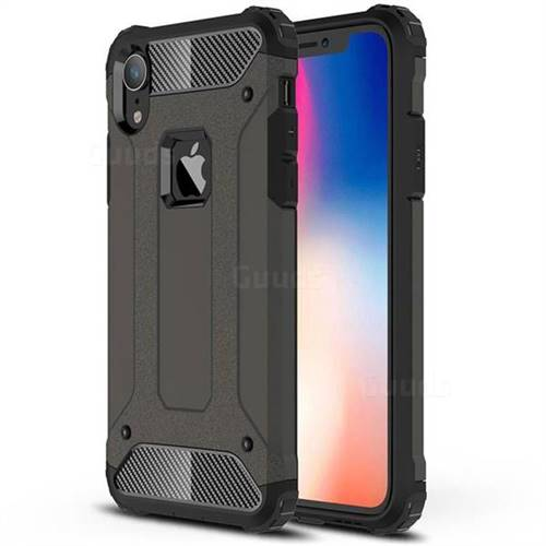 King Kong Armor Premium Shockproof Dual Layer Rugged Hard Cover for iPhone Xr (6.1 inch) - Bronze