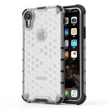 Honeycomb TPU + PC Hybrid Armor Shockproof Case Cover for iPhone Xr (6.1 inch) - Transparent