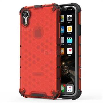 Honeycomb TPU + PC Hybrid Armor Shockproof Case Cover for iPhone Xr (6.1 inch) - Red