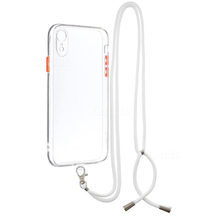 Necklace Cross-body Lanyard Strap Cord Phone Case Cover for iPhone Xr (6.1 inch) - Transparent