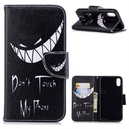 Crooked Grin Leather Wallet Case for iPhone Xr (6.1 inch)