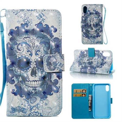Cloud Kito 3D Painted Leather Wallet Case for iPhone Xr (6.1 inch)