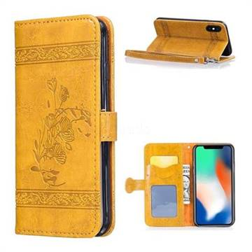iphone xr case wallet yellow