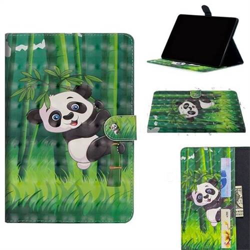 Climbing Bamboo Panda 3D Painted Leather Tablet Wallet Case for Apple iPad Pro 11
