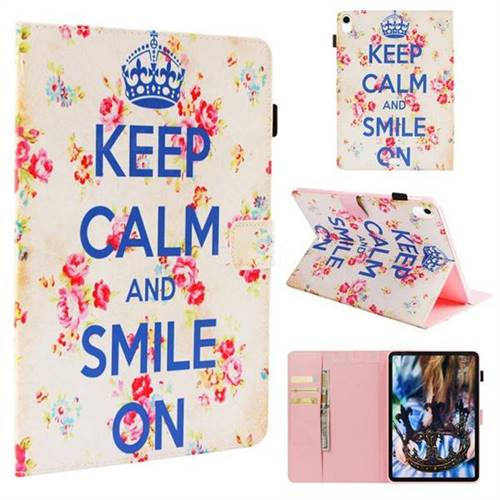 The Crown of Flowers Folio Stand Leather Wallet Case for Apple iPad Pro 11