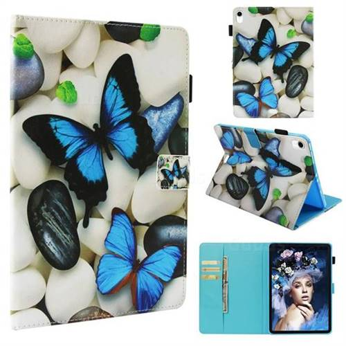 Blue Butterflies Folio Stand Leather Wallet Case for Apple iPad Pro 11