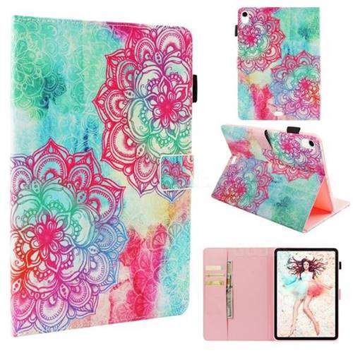 Fire Red Flower Folio Stand Leather Wallet Case for Apple iPad Pro 11