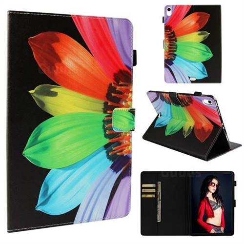 Colorful Sunflower Folio Stand Leather Wallet Case for Apple iPad Pro 11