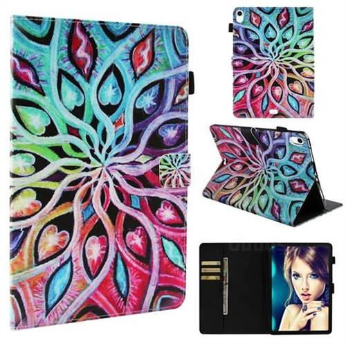 Spreading Flowers Folio Stand Leather Wallet Case for Apple iPad Pro 11