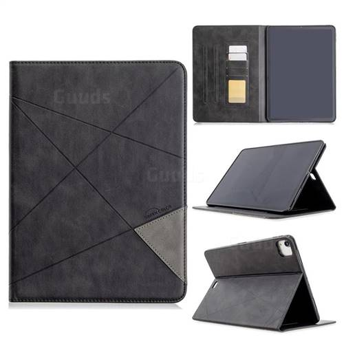 Binfen Color Prismatic Slim Magnetic Sucking Stitching Wallet Flip Cover for Apple iPad Pro 11(2018) - Black