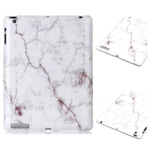 White Smooth Marble Clear Bumper Glossy Rubber Silicone Phone Case for iPad 4 the New iPad iPad2 iPad3