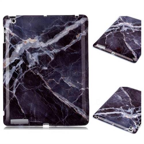 Gray Stone Marble Clear Bumper Glossy Rubber Silicone Phone Case for iPad 4 the New iPad iPad2 iPad3
