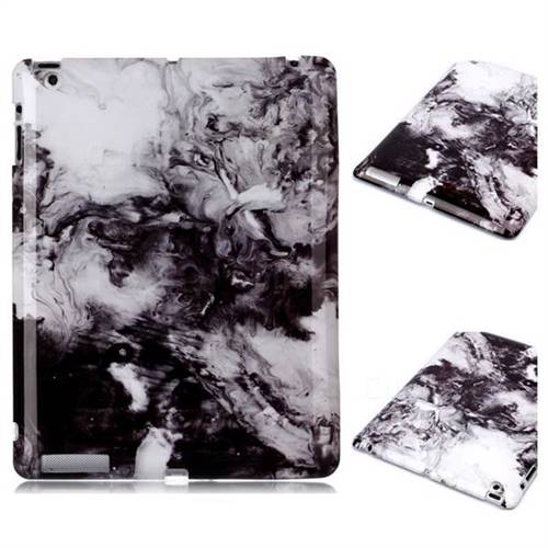 Smoke Ink Painting Marble Clear Bumper Glossy Rubber Silicone Phone Case for iPad 4 the New iPad iPad2 iPad3