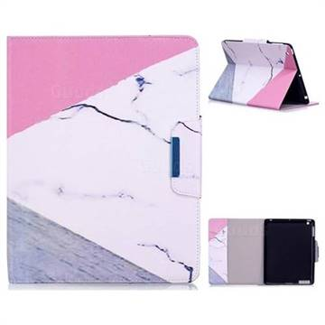 Triangle Marble Folio Flip Stand Leather Wallet Case for iPad 4 the New iPad iPad2 iPad3
