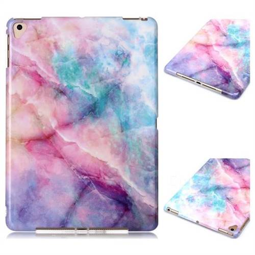 Dream Green Marble Clear Bumper Glossy Rubber Silicone Phone Case for iPad Air iPad5