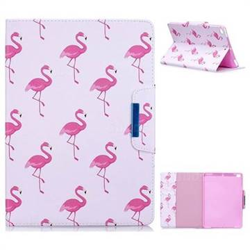 Red Flamingo Folio Flip Stand Leather Wallet Case for iPad Air iPad5