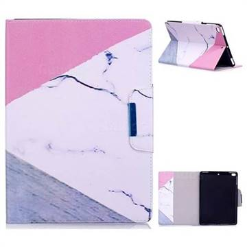Triangle Marble Folio Flip Stand Leather Wallet Case for iPad Air iPad5
