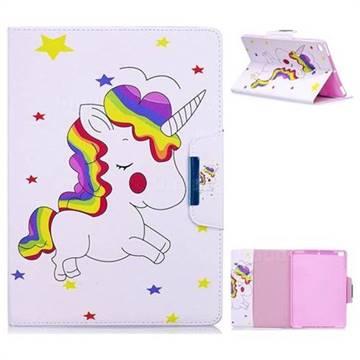 Rainbow Unicorn Folio Flip Stand Leather Wallet Case for iPad Air iPad5