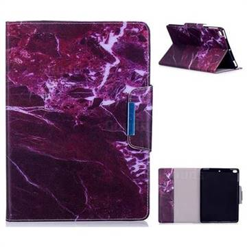 Red Marble Folio Flip Stand Leather Wallet Case for iPad Air 2 iPad6