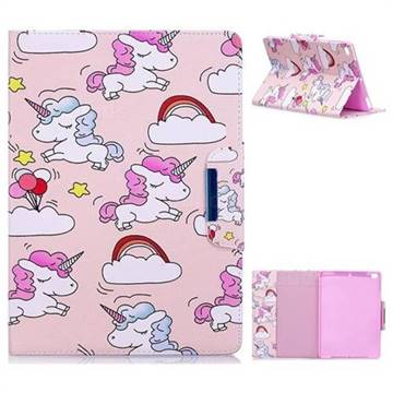Cloud Unicorn Folio Flip Stand Leather Wallet Case for iPad Air 2 iPad6