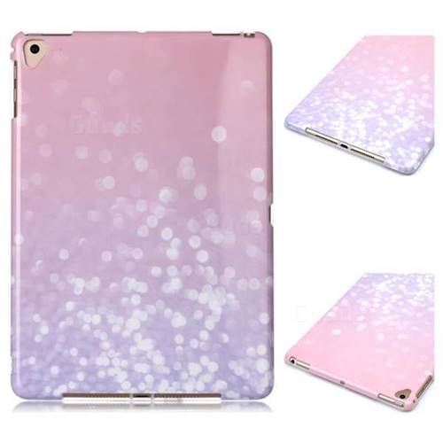 Glitter Pink Marble Clear Bumper Glossy Rubber Silicone Phone Case for iPad 9.7 2017 9.7 inch