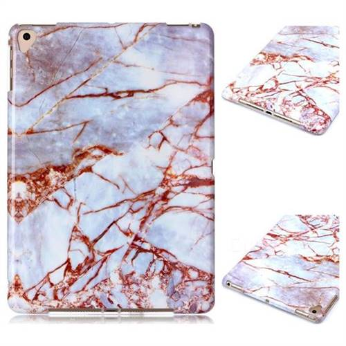 White Stone Marble Clear Bumper Glossy Rubber Silicone Phone Case for iPad 9.7 2017 9.7 inch