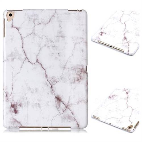 White Smooth Marble Clear Bumper Glossy Rubber Silicone Phone Case for iPad 9.7 2017 9.7 inch