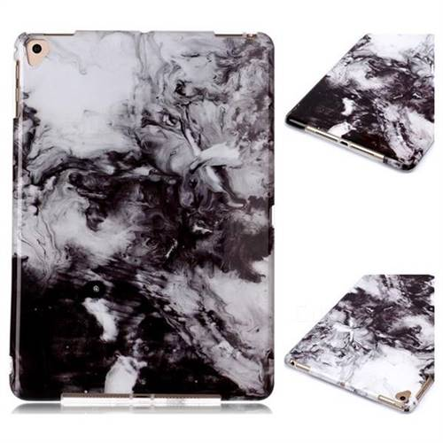 Smoke Ink Painting Marble Clear Bumper Glossy Rubber Silicone Phone Case for iPad 9.7 2017 9.7 inch